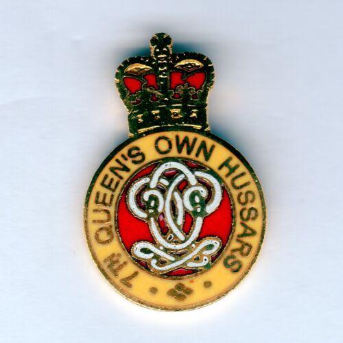 Enamel Lapel Badge 7th Queens Own Hussars