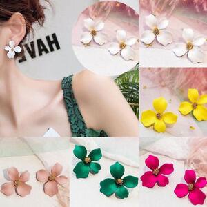 Bohemia-Painting-Flowers-Droplet-Tassel-Ear-Stud-Earrings-Jewelry-For-Women-Hot