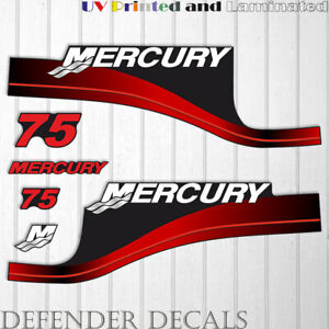 Mercury 15 HP Two Stroke outboard engine decal sticker RED kit reproduction 15HP