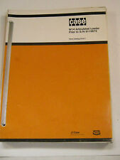CASE W14 ARTICULATED LOADER PARTS CATALOG D1211 MANUAL PRIOR S/N 9119672