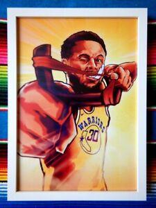 Framed-STEPHEN-CURRY-Golden-State-Warriors-NBA-Poster-84cm-x-59-5cm-x-3cm