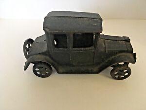 Vintage Cast Iron Model T Antique Car COMPLETE
