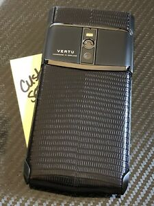 Brand-NEW-Genuine-Vertu-Signature-Touch-5-2-034-Pure-Jet-Lizard-Extremely-RARE