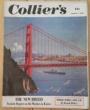 COLLIERS MAGAZINE OCTOBER 7 1950 MARINES KOREA WORLD SERIES WINGATE JEAN ARTHUR