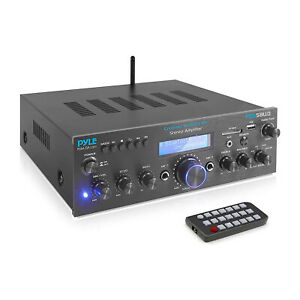 Pyle PDA5BU.0 Compact 200 Watt Bluetooth Home Stereo Amplifier Receiver System
