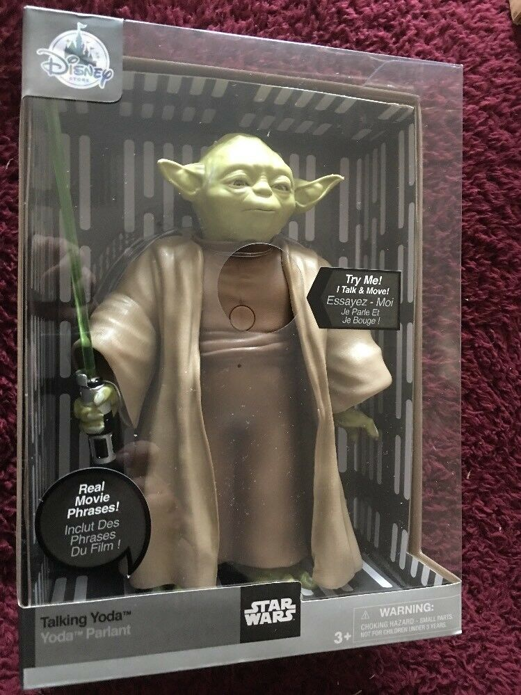 Star Wars The Last Jedi  Yoda  10 inch  talking  figure with light up lightsaber
