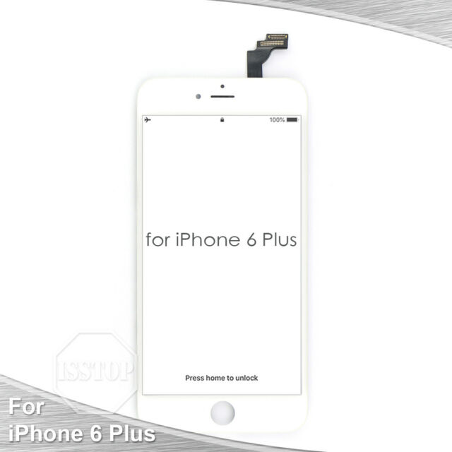White iPhone 6 Plus LCD Display Touch Screen Digitizer Frame Replacement A1522