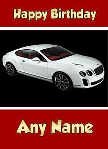 Image Is Loading Personalised Bentley Sports Car Birthday Card Any Name