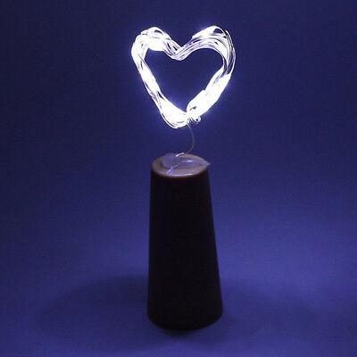 20 LED Wine Bottle Copper Wire String Light Bulb Cork Festival Party Xmas Decor