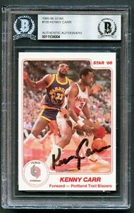 Kenny-Carr-105-signed-autograph-auto-1985-86-Star-Basketball-Card-BAS-Slabbed