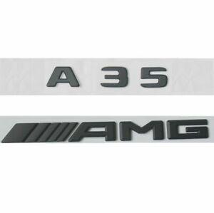 Black Trunk Emblem Badges Emblems for Mercedes Benz W176 W177 A45 AMG 2017+