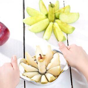 Apfel-amp-Birnenteiler-Apfelteiler-aus-stabilem-Alu-Druckguss-mit-breitem-Griff