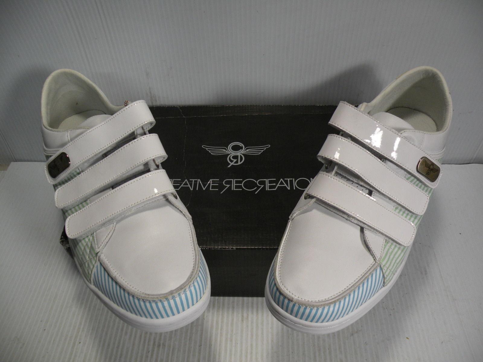 Creative Recreation torrio torrio torrio low shoes Mens WHITE SEERSUCKER CR5728 size 11.5 new d3c123