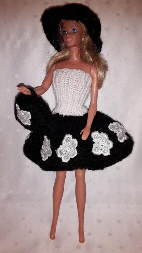 Bambole VESTITI. adatto PER BARBIE, vestito, Custodia + CAPPELLO fatto a mano 6291