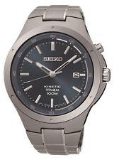 New Seiko SKA729 Blue Dial Kinetic Titanium Men's Watch
