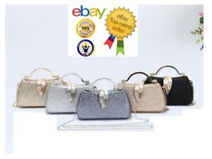 New UK Women/'s Hexagon Shape Glitter Evening Clutch Bag//Party Bag//Wedding Bag