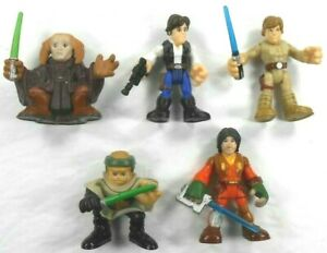 Galactic-Heros-Action-Figures-Star-Wars-Lot-5-Hans-Solo-Luke-Skywalker-Trooper