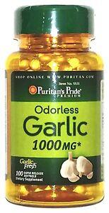 1000mg-Odorless-Garlic-100-Rapid-Release-Softgels-Capsules-Heart-Health-Pill