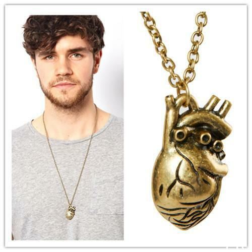 2015 Hot New Punk Gothic Human Anatomical Heart Small Pendant Necklace   HUCA