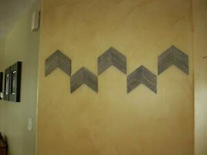 Darla-039-s-Studio-66-Antique-Gray-Stained-Arrows-Chevrons-Set-of-5