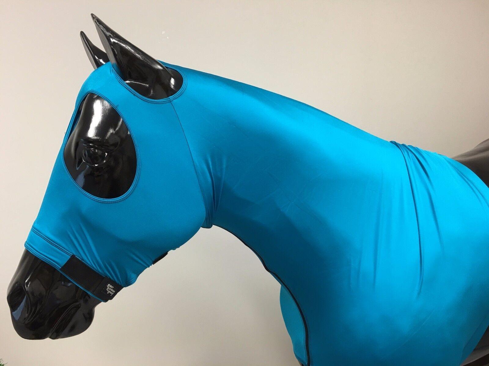 Sleazy Sleepwear for Horses Genuine Stretch Hood Teal Small