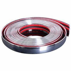 20mm-5m-Chrome-Car-Styling-Moulding-Strip-Trim-Self-Adhesive-Crash-Protect-V7L0