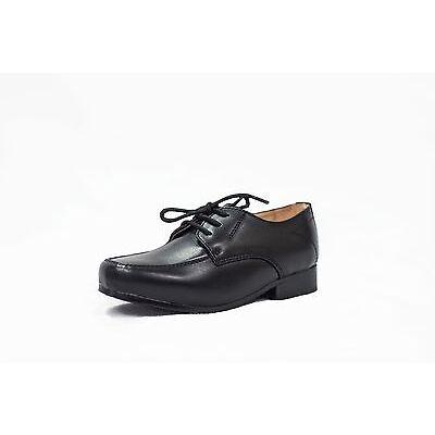 a2926000da6 Boys Smart Formal Shoes Black Brown Patent Laces Wedding Infant Junior W