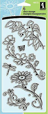INKADINKADO CLEAR STAMPS 98973 - FLOWERS - FLORAL BEAUTY STEMS