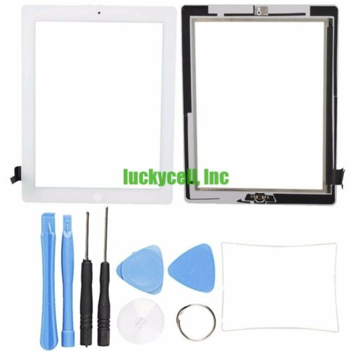 Tools White Adhesive Digitizer Touch Screen Glass For iPad 2 Mid Frame Bezel