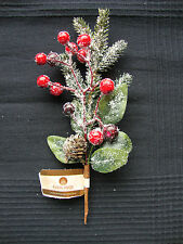 3 Christmas Picks snowy Berries Pinecone decorations Wreaths Garlands Floristry