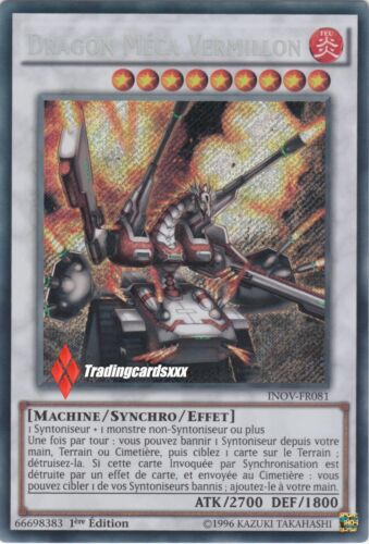 VF//SECRET RARE Mech INOV-FR081 ♦Yu-Gi-Oh!♦ Dragon Méca Vermillon