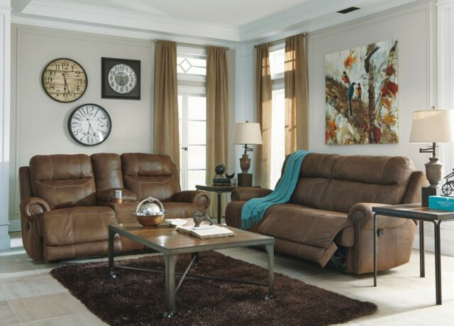 Fantastic Ashley Austere Brown Sofa And Loveseat Console Furniture 38400 Uwap Interior Chair Design Uwaporg
