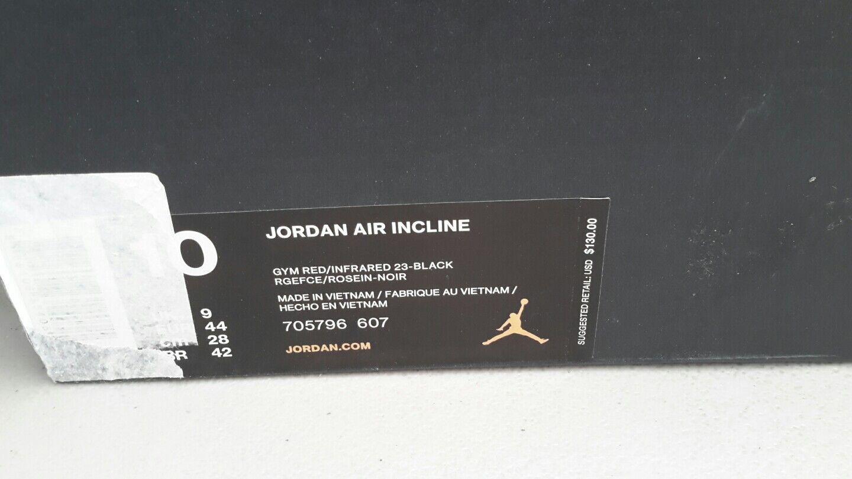Nike Air Jordan Air Incline Gym Red/Infrared 23-Black 705796-607 Men's SZ 10