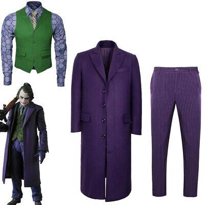The Dark Knight Joker Heath Ledger Cosplay Costume Halloween Shirt Vest Tie Ebay