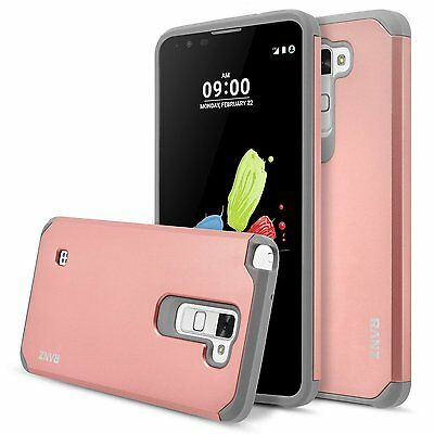 buy online 47a13 fc786 LG Stylo 2 / Stylus 2 Case, Impact Dual Layer Shockproof Bumper Case - Rose  Gold | eBay