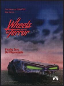 WHEELS OF TERROR__Original 1990 Trade print AD / ADVERT_promo__'74 DODGE CHARGER