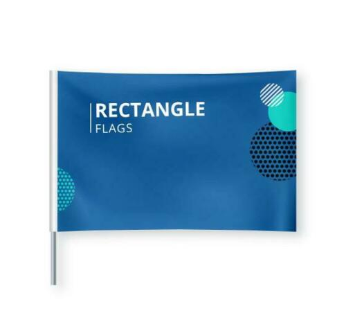 Custom Rectangle Flag Outdoor Business Advertising Display Flag Sign,No Hardware