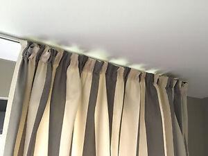 gardinen grau wei gestreift ebay. Black Bedroom Furniture Sets. Home Design Ideas