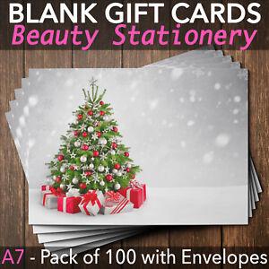 Christmas Beauty Salon.Details About Christmas Gift Vouchers Blank Beauty Salon Card Nail Massage X100 A7 Envelope Si