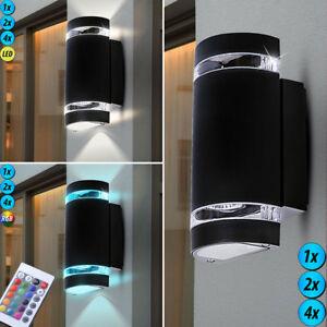 au en led wand alu spot up down leuchte lampe rgb fernbedienung dimmbar schwarz ebay. Black Bedroom Furniture Sets. Home Design Ideas