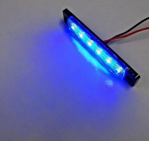 6 BBT Large 12 volt Marine Grade Waterproof Cool Blue LED Courtesy Lights