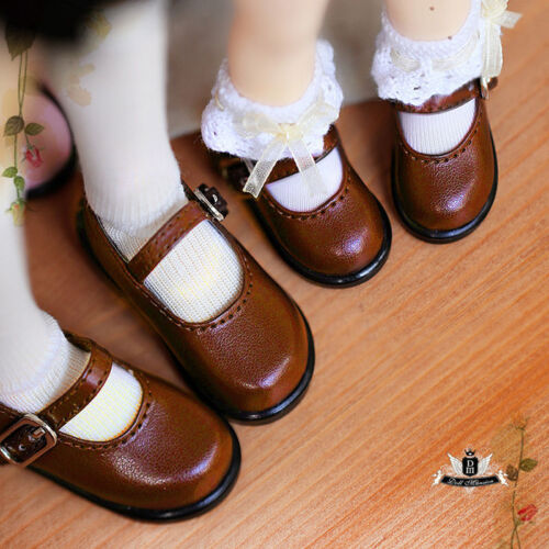 1//4 BJD Shoes MSD Dollfie DREAM student brown shoes Dollmore AOD DOD SOOM MID DZ