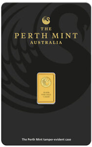 Perth-Mint-Kangaroo-1g-9999-Gold-Minted-Bullion-Bar-Black-Cert-Card-1-Gram