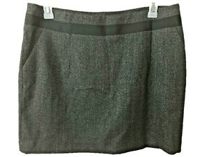 The-Limited-skirt-above-knee-Size-14-black-gray-womens-pencil-lined