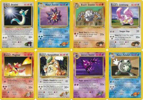 Pokemon Gym Heroes uncommon cards Charmeleon Magmar Haunter Dratini etc CHOOSE