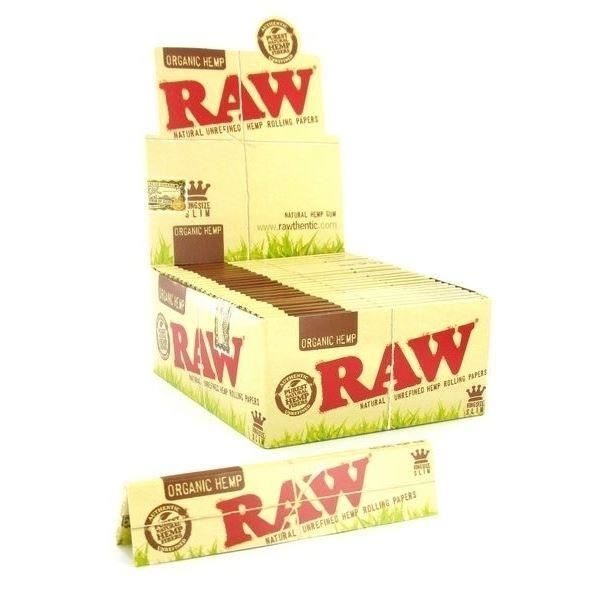 10 Packs x RAW Natural King Size Slim Organic Hemp Rolling Papers