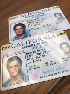 Details about Back to the Future - Fake Drivers License Prop Marty McFly  Novelty HIGH QUALITY