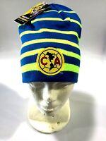 Club America Blue/neon Beanie Hat (gorra Beanie) Rinox Warm Original