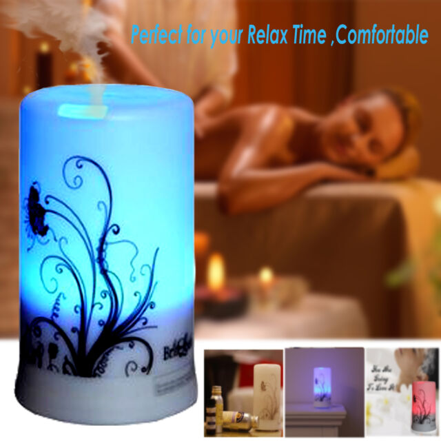 Ultrasonic Oil Diffuser Essential Aroma Peppermint Lavender Spa Yoga Young Livin