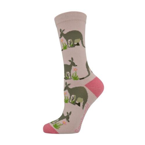 Bamboo fibre Kangaroo socks.Australian animal socks.Australian souvenir socks